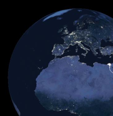 Big globe showing global supply chain