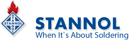 Stannol color logo on homepage