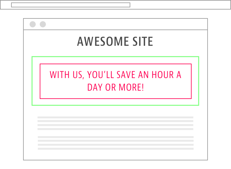 Time Saving Ad Copy