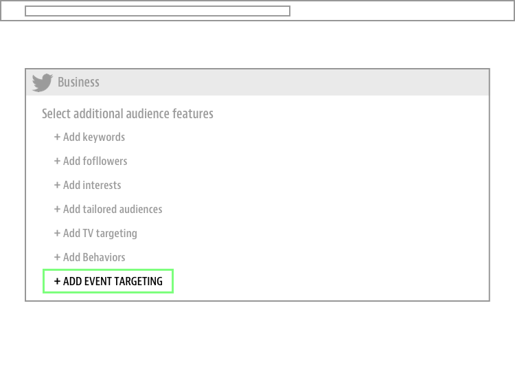 twitter ads - event targeting