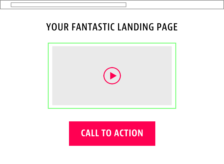 Video-Centric Landing Page