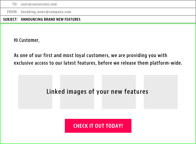 Feature Launch Email