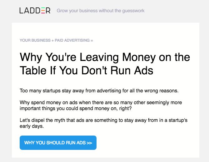 running ads