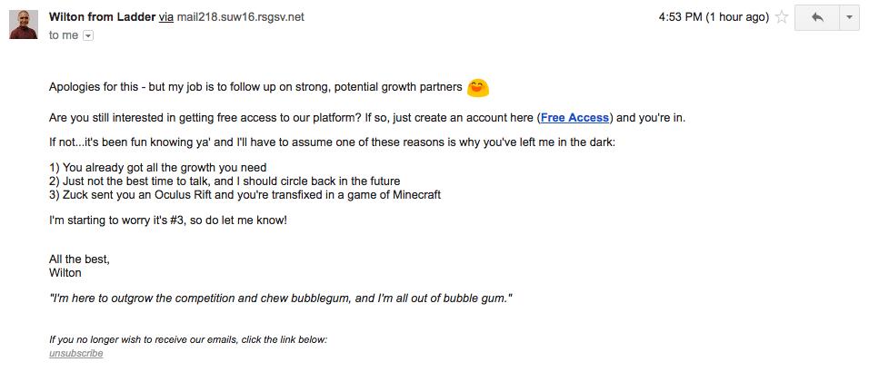 email breakup