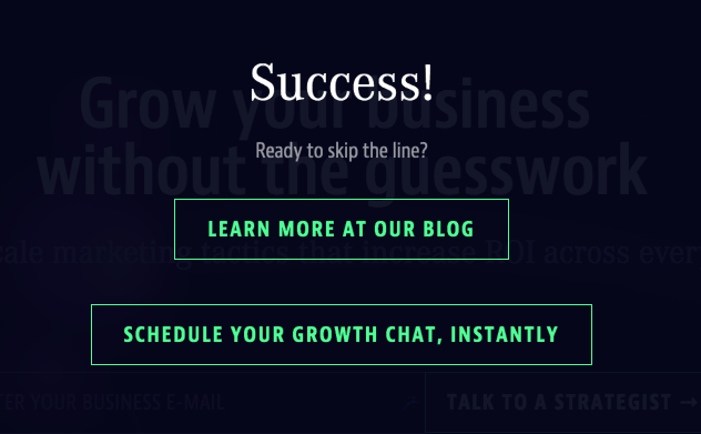 success page