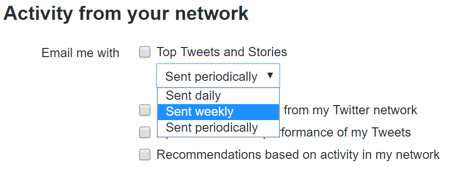 periodical notifications