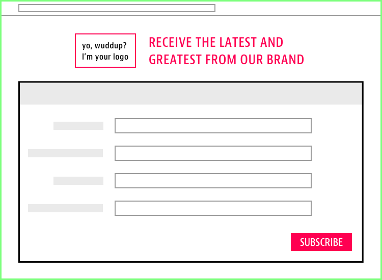 Email Service Provider Landing Page