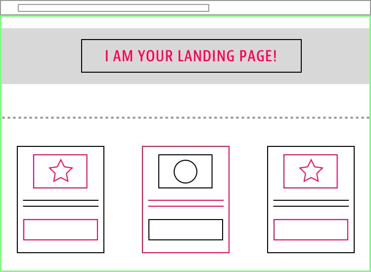 More Visual Landing Page