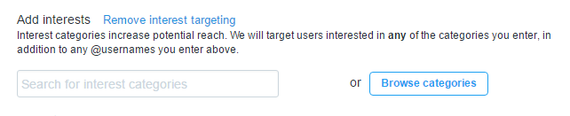 twitter ads - event targeting broad