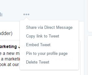twitter ads - pinned tweet