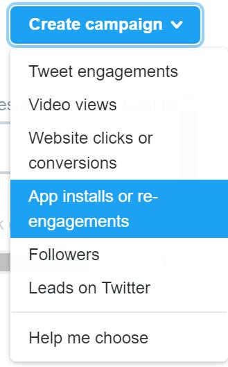 twitter ads - app installs