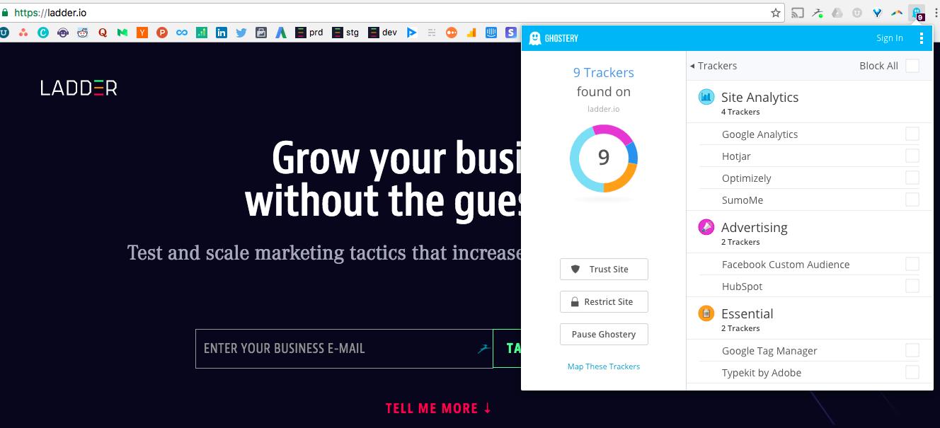 website trackers