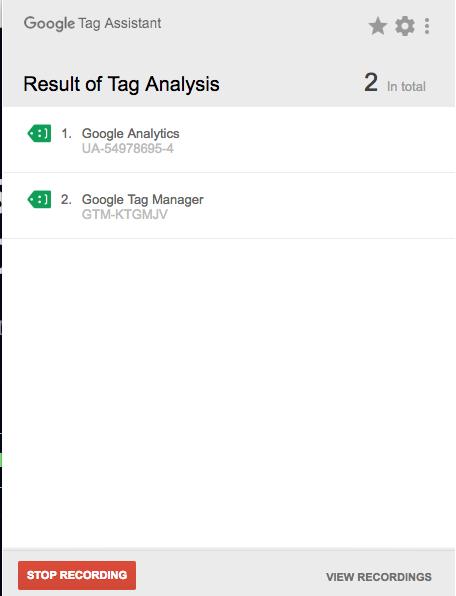 tag analysis