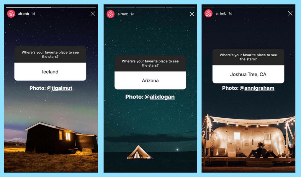 Airbnb Instagram Question Sticker