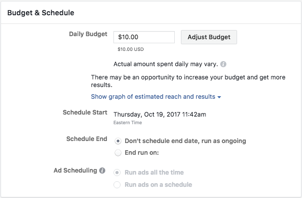 Budgeting for Facebook Lead Gen Ads