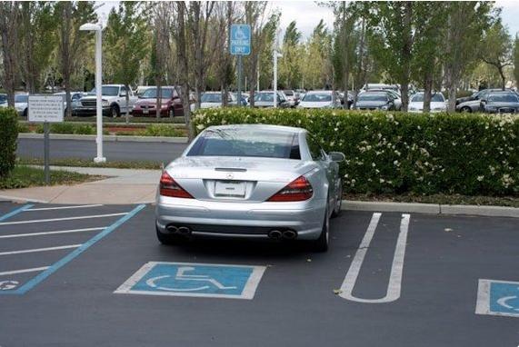 steve jobs parking