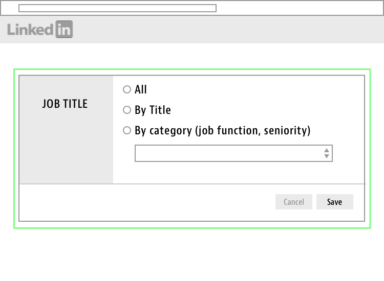 linkedin job title targeting