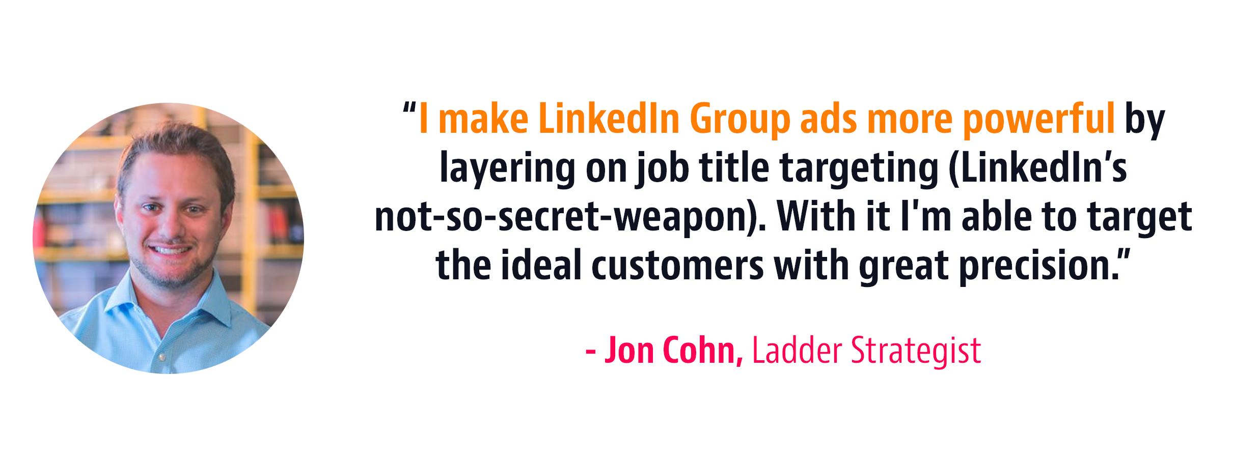 job title targeting strategy
