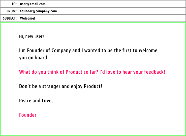 Founder Welcome Email