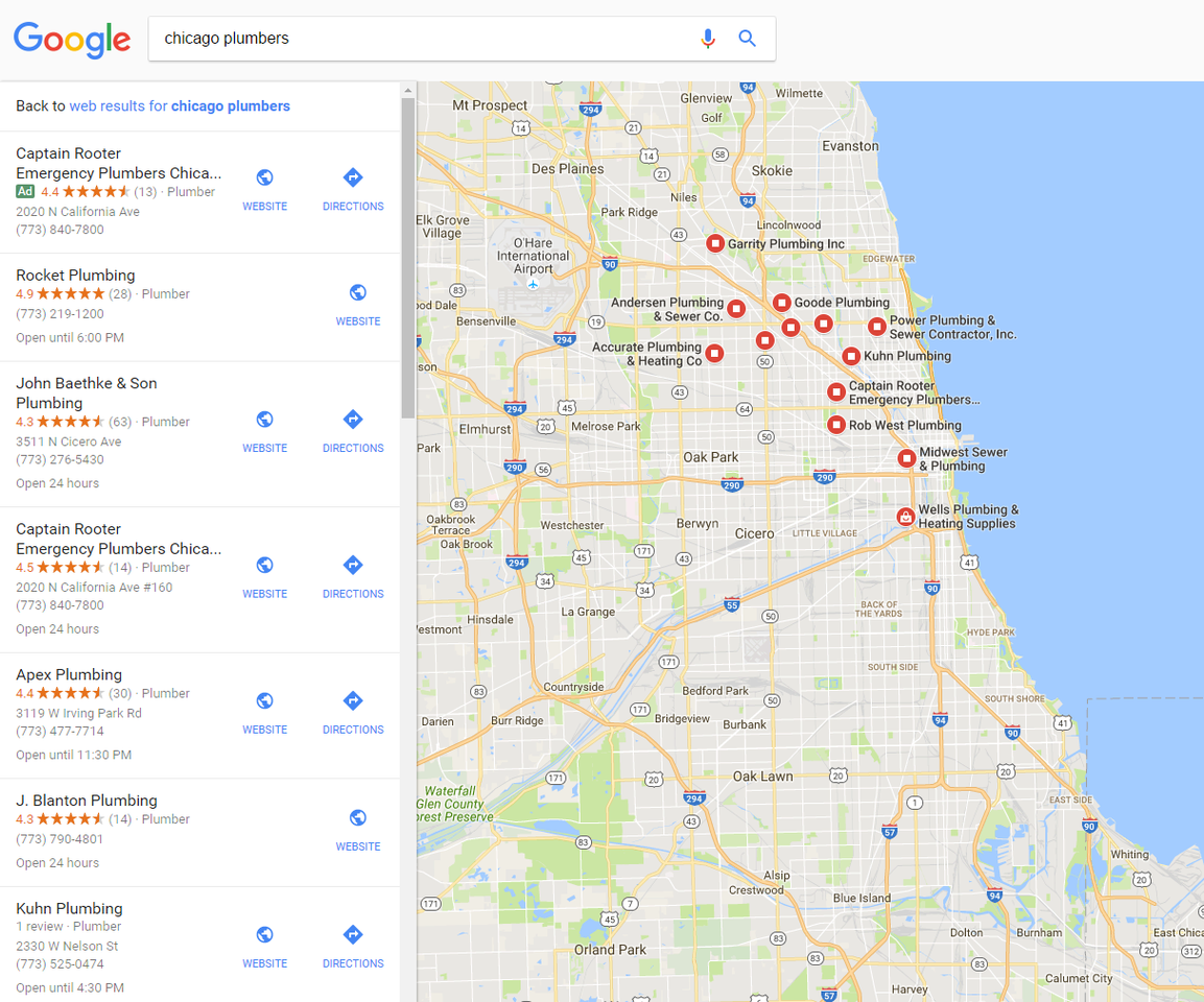 Local SEO: Ranking in Google Local Finder Results