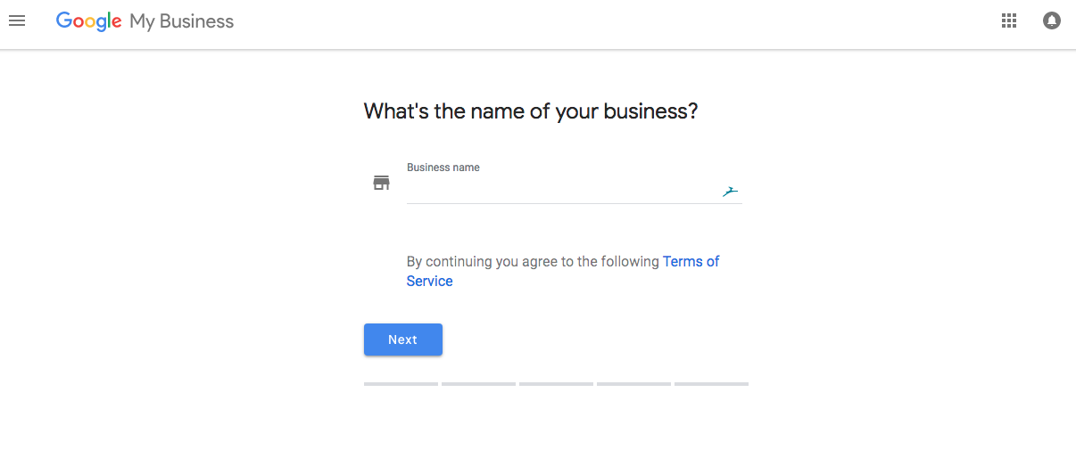 Setting Up a Google My Business Page - Name of Business