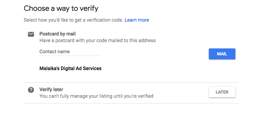 How to Verify Your Google My Business Page