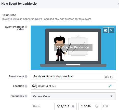 How to Create a Facebook Event - Step 2