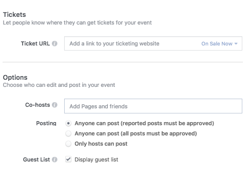 How to Set up a Facebook Event - Step 4
