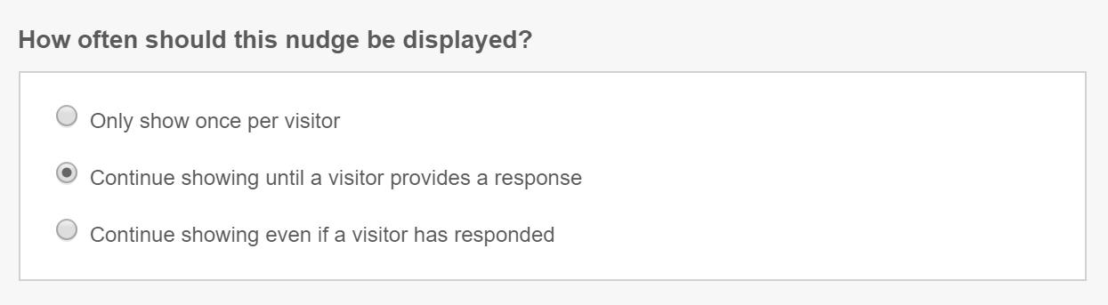 qualaroo survey display frequency