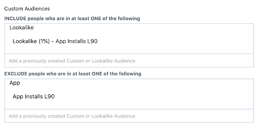 Even though from my recent experience bigger lookalikes have been working well, I recommend starting with 1%. Being on this stage, you want to gain the crucial users which your app was created for.