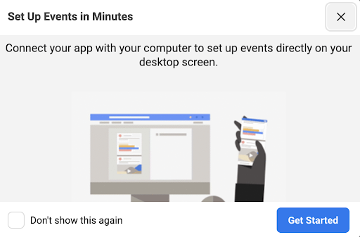 Thanks to the codless way of recording your in-app standard events, you can launch your app in parallel with Facebook Event Manager and point out all the activities you treat as an event.