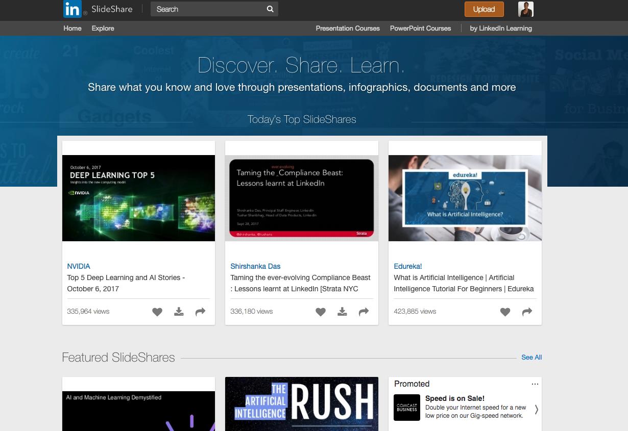 SlideShare by LinkedIn - Content Distribution