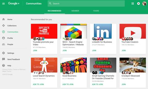 Google+ Communties - Content Distribution