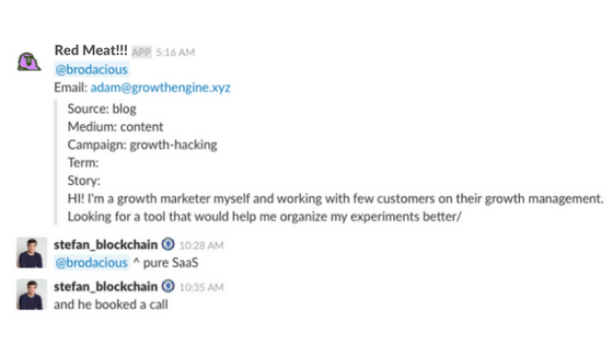 Contact with Growth Engine