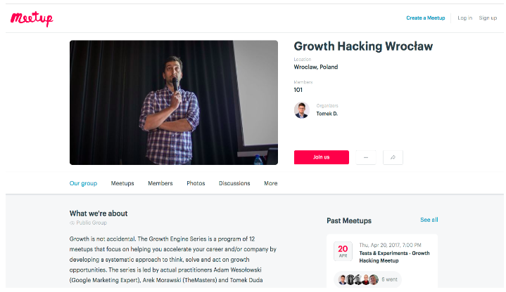 Growth Hacking Meetup in Wroclaw, Poland