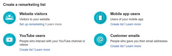 video marketing youtube retargeting lists