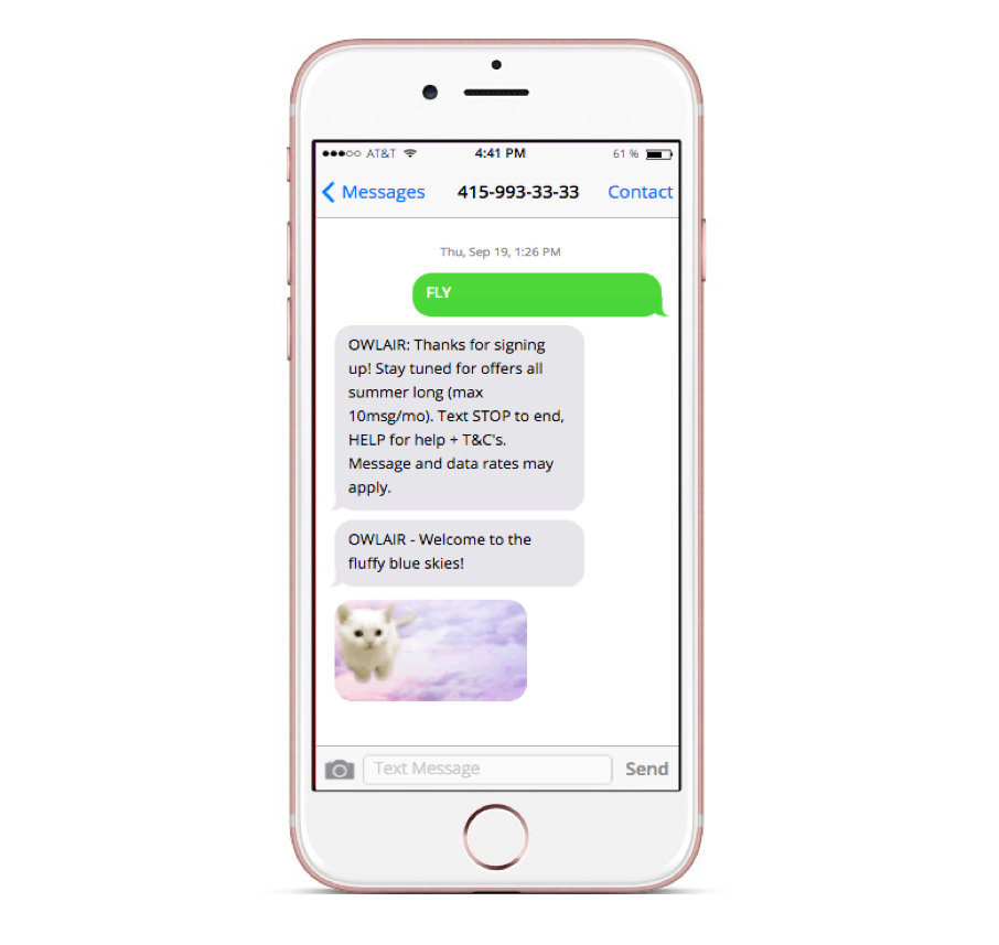 Send a welcome SMS message to let them know that they have option to unsubscribe.