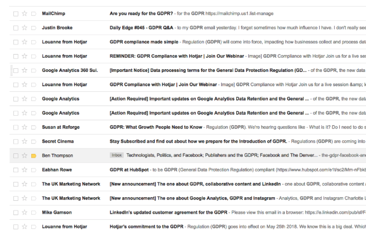 GDPR Compliance Emails