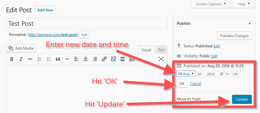 How to Change an Old Blog Post's Publish Date