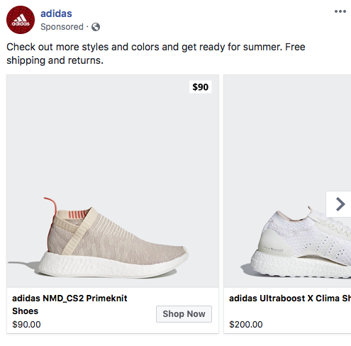 Product Shot Ads - Adidas