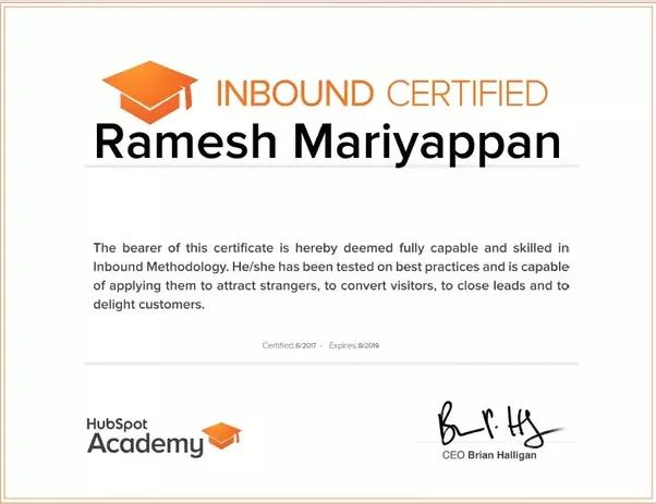 Huspot's Inbound Marketing Certification Program