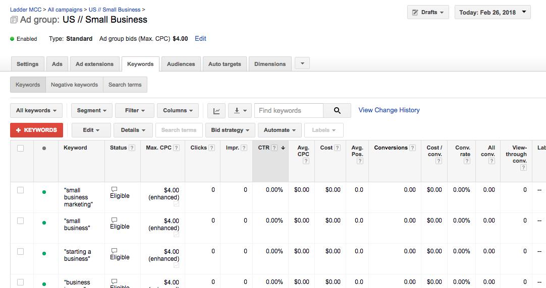 Managing Ads in Google AdWords