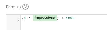 impressions formula google data studio