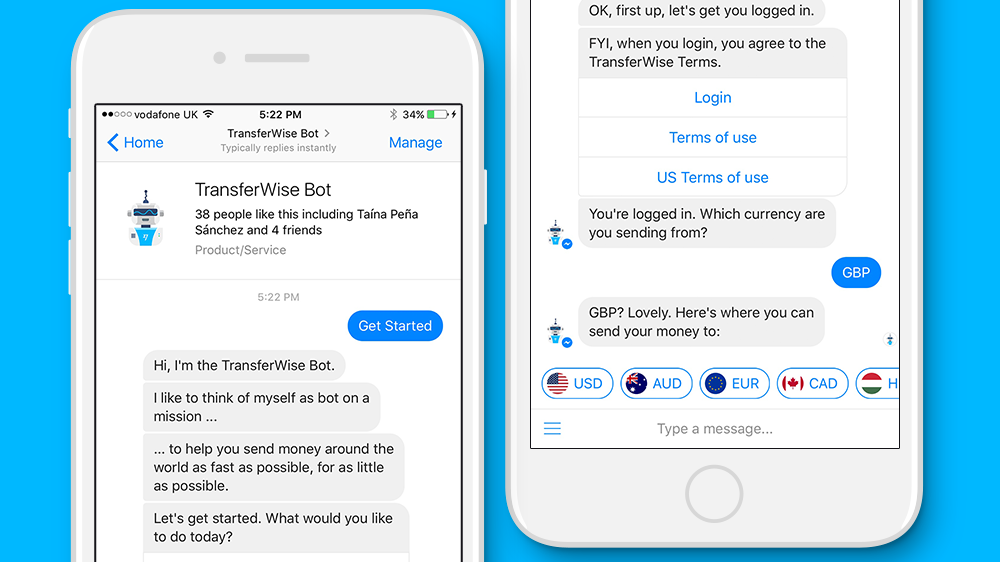 Example of Facebook Chat Bot