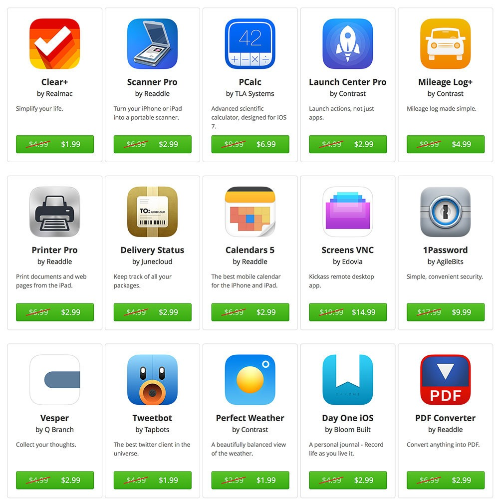 Discounts on Mobile Apps