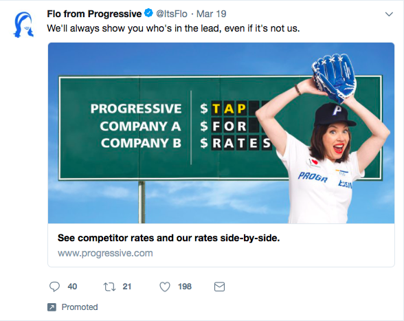 An example of a promoted tweet