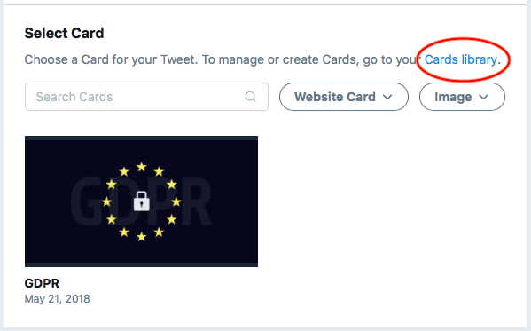 Twitter Cards Library.