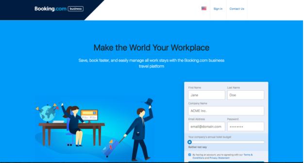 Booking.com for Business Website