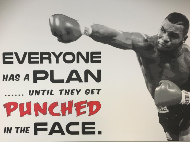 mike tyson throwing a punch