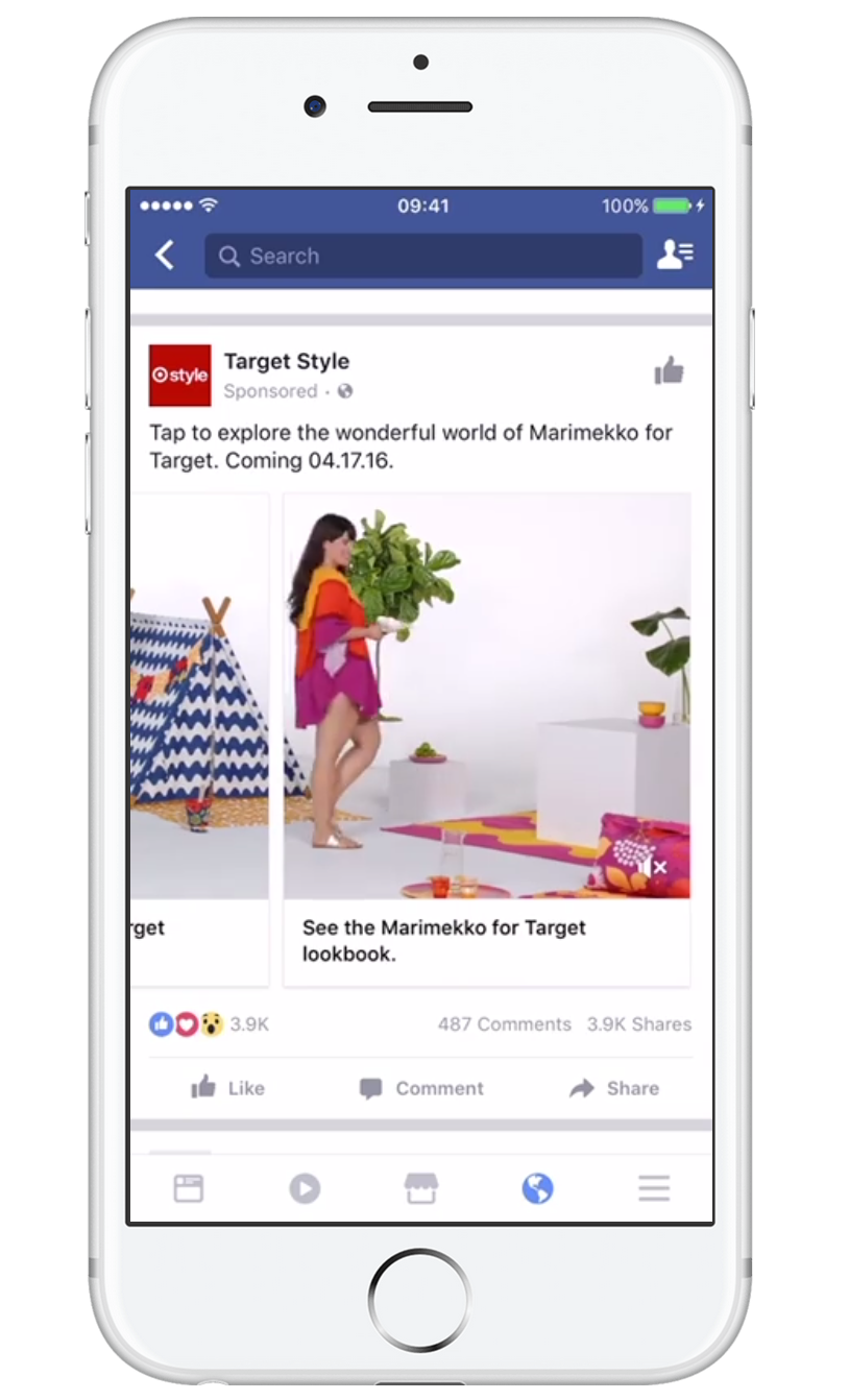 Facebook Carousel Ad Preview
